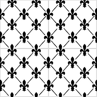 Fleur de lis pattern cement tile encaustic tiles pacific hds collection handmade cement tile shop encaustic tiles moroccan cuban concrete