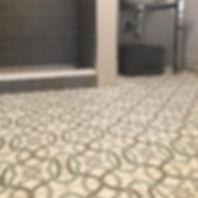 Sanibel Grey cement tile pattern encaustic floor