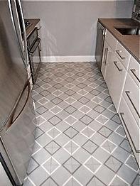 kitchen cement tile floor grey blue