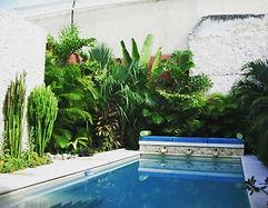 Merida pool fountain garden