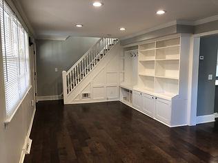 renovation dark hardwood floor