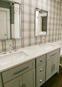 bathroom classic plaid cement tile