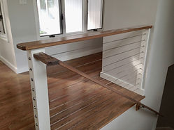 stair rail stainless steel wire and wood