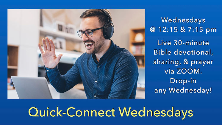Quick Connect Wednesdays_Blue Background