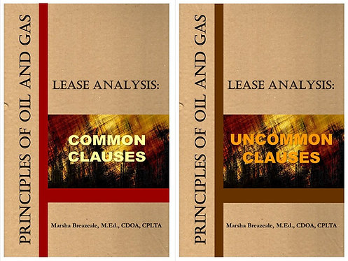 Two-Book Set: Common & Uncommon Clauses