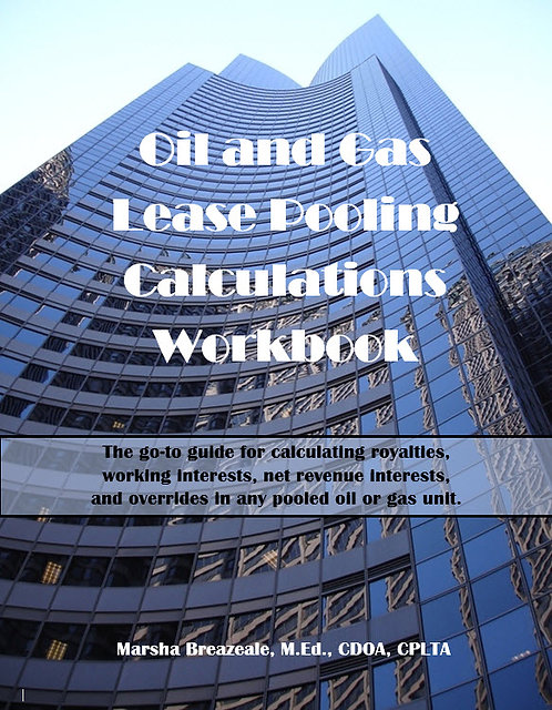 Oil & Gas Lease Pooling Calculations Workbook