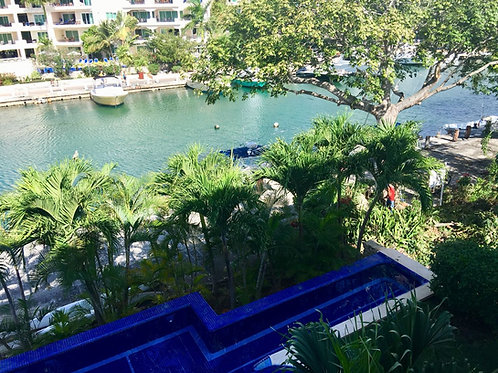 Puerto Aventuras canal view - 2 levels Apartment of 4 Bedrooms