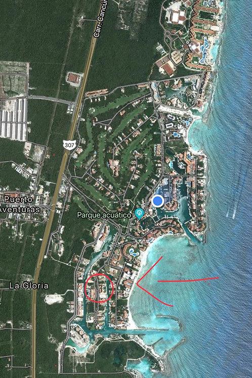 Land in Puerto aventuras, frente Marina - 855 sqm