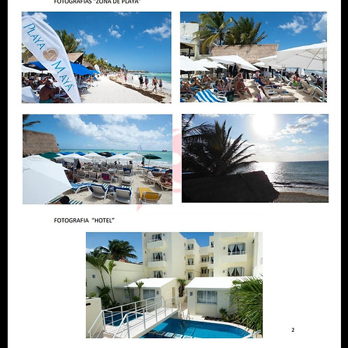 Hotel Beach Front in Playa del Carmen. 1.300 sqm, 22 rooms, 750 sqm of land.
