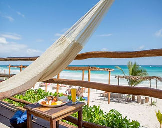 Hotel beach front Tulum
