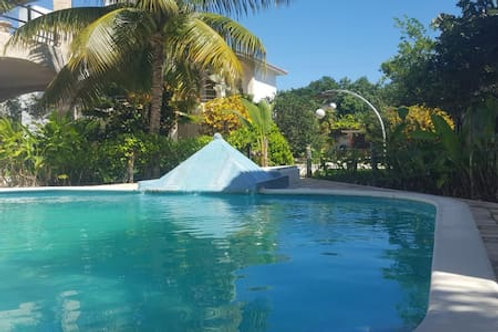 Apartment in Villa, ground floor with pool. Long and short term.- BLBR03