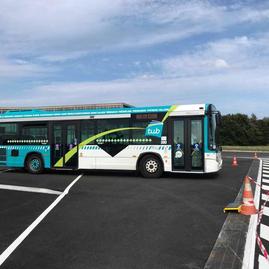 Le GX 127L n°280 pour le baptême de conduite autobus