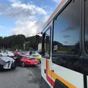 Rassemblement des véhicules avant le départ
