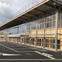 Le bâtiment principal du nouveau dépôt.