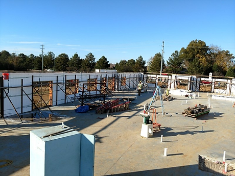 construction site using insulated concrete wall forms