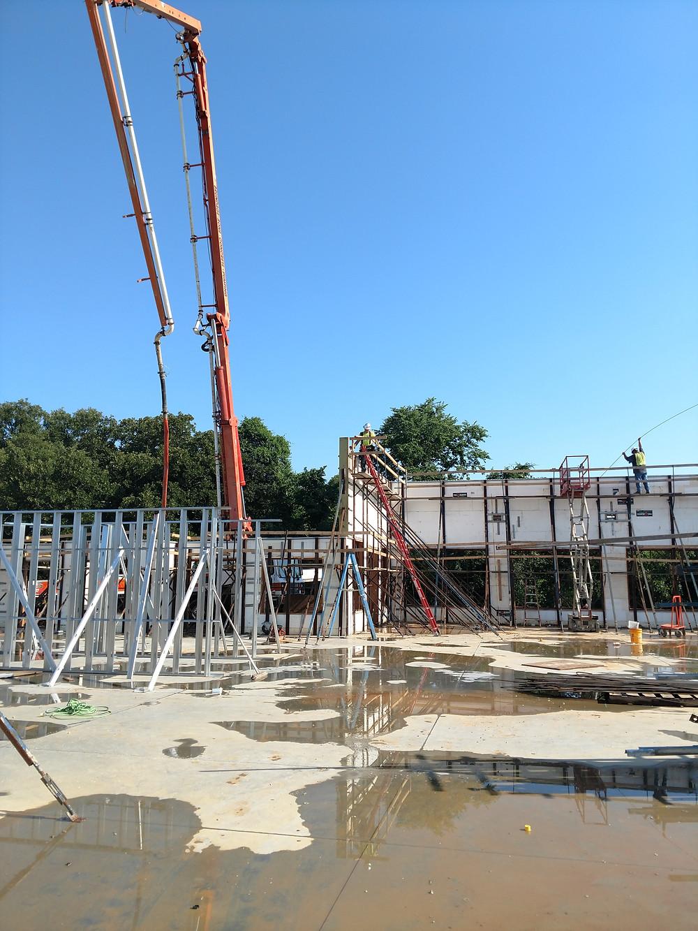 Panelized ICF wall panels 18' tall