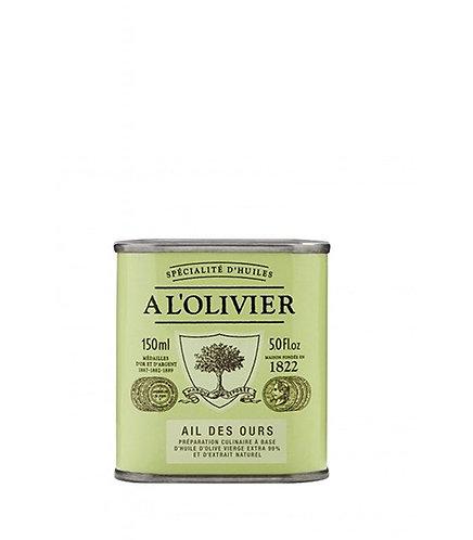 Bidon Vert Clair Huile d'Olive Ail des Ours 150 ml