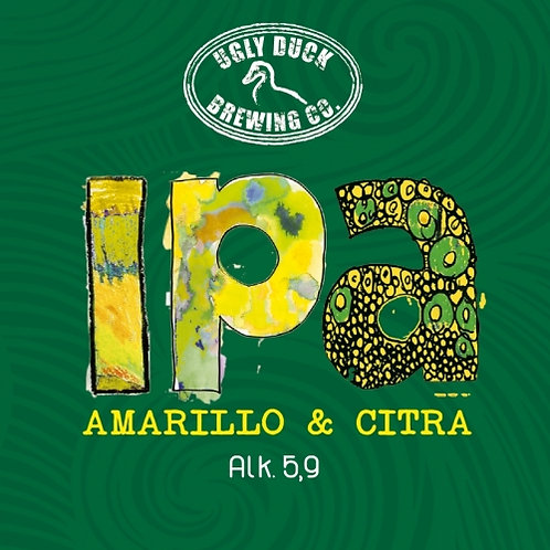 Amarillo Citra  - IPA	 33 cl 5,90% (UGLY DUCK)