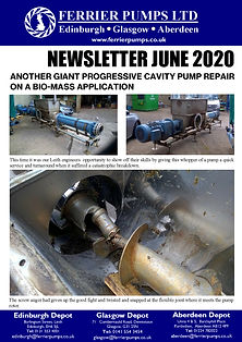 Pages from Ferrier June 2020 newsletter.