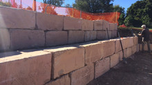 Building Sandstone Retaining Walls