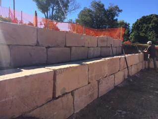Building Sandstone Retaining Walls