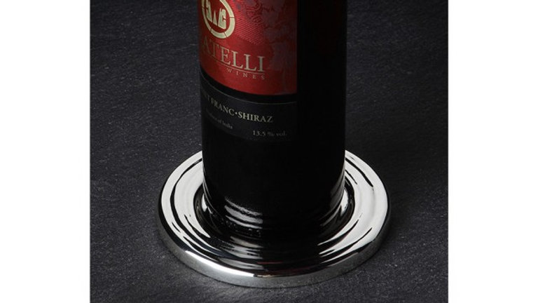 SILVER PLATED WINE BOTTLE COASTER