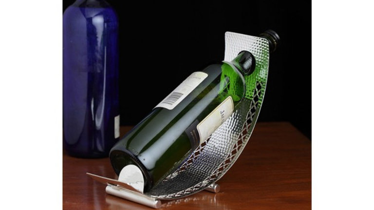 SILVER PLATED WINE HOLDER