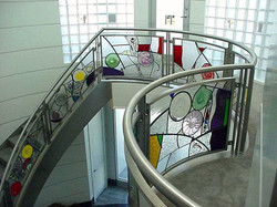 Leaded Glass Stair Railing