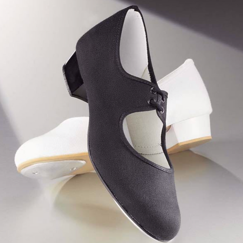 Canvas Childs Low Heel Tap Shoes