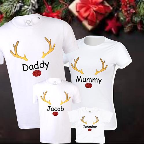 KIDS Glitter Reindeer Antler Family