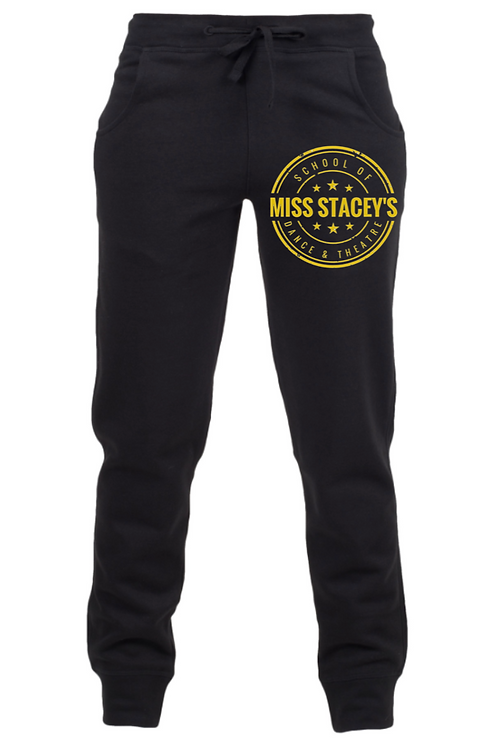 Miss Stacey's Adult Black Tracksuit Bottoms