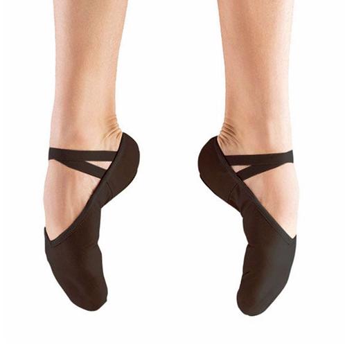 Black Canvas Split Sole Ballet Shoe
