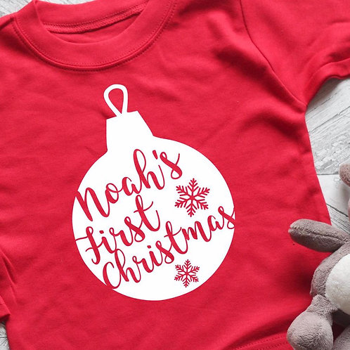 1st Christmas Body Suit or T-Shirt