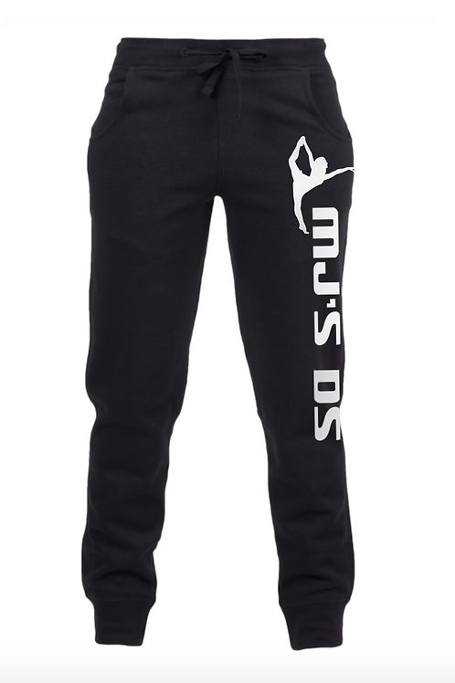 MJ's Adult Black Tracksuit Bottoms