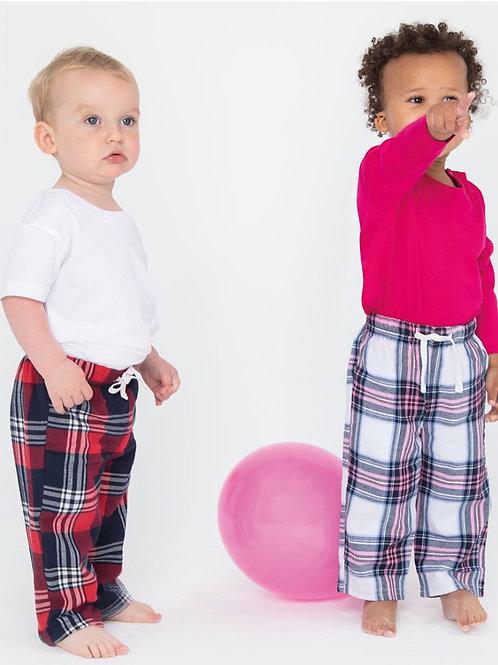 Kids Tartan Longe Pants