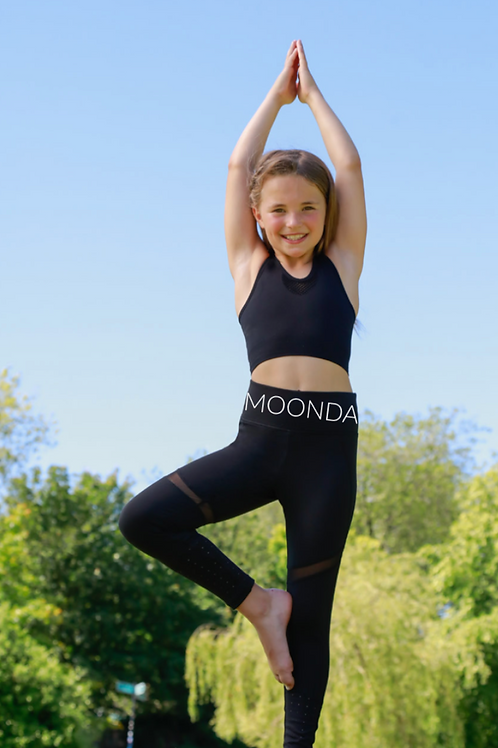 Moondance Kids Mesh Insert Leggings
