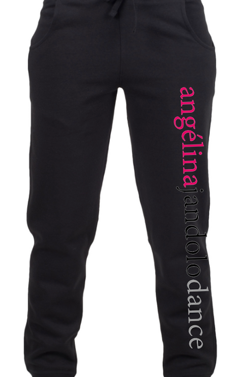 Angélina Jandolo Dance Adult Black Tracksuit Bottoms
