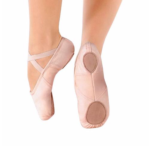 Pink Canvas Split Sole Ballet Shoe