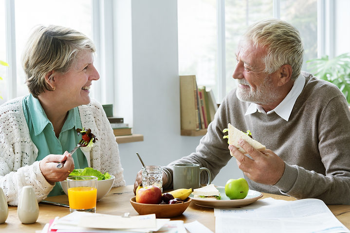 Pensioner Elderly Couple Eating Brunch Concept.jpg