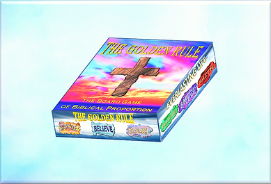 The Golden Rule 3d box with background (