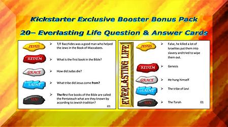 Kickstarter bonus 20 Q&A cards booster p