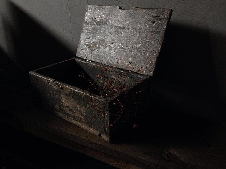 グレーのかっこいい木箱