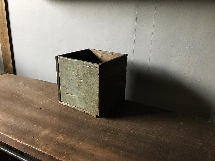 水色とダークブラウンのウッドボックス