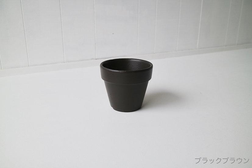 ブラックブラウンの鉢、テラコッタ3.5号