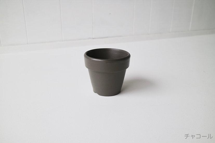 チャコールの鉢、テラコッタ3.5号