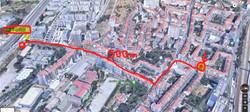 caminho metro mapa 3d