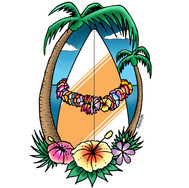 Surfer Hawaiian Luau