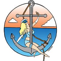 Pinup Anchor Tattoo