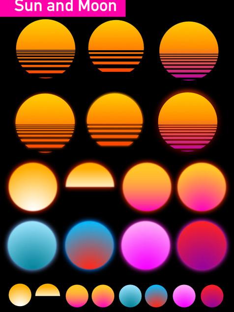 Sun and Moon - Affinity Designer