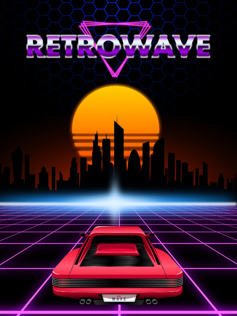 Retrowave Vector Pack Example 2